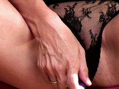 Insolent milf enjoys a black tool