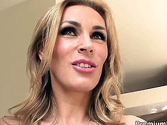 Tanya Tate finds herself blowing mans sturdy ram rod