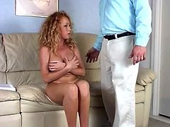 She is such a charming and such a stunning one! Honey gets this dude so naughty and he she spanks his ass and then rides that penis.