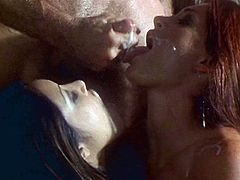 Amazing Aria and Nautica Thorn pose in sexy lingerie for the guy. Then they give him an unforgettable blowjob and get their tight pussies fucked hard.