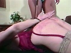 Two horny matures are having wild bondage fun! One got her big ass spanked and then when she is tied up she loved to be the slave!