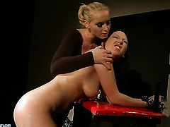 Blonde and Kathia Nobili spend time doing it
