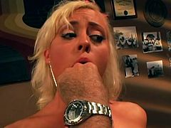 Have fun with this hardcore scene where the horny blonde Lorelei Lee gets a mouthful of cum after being fucked silly.