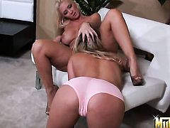 Blonde Heather Starlet has lesbian sex of her lifetime with Molly Cavalli