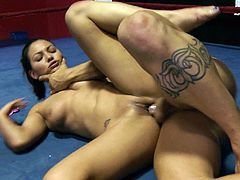 Take a look at this hardcore scene where the slutty Adrianna Luna is fucked in the middle of the ring by a ref with a big fat cock.