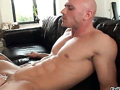Johnny Sins gets turned on to the point of no return by Angel Vain and then bangs her mouth