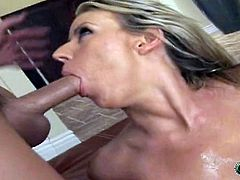 Magnificent Carolyn Reese Puts Oil On Herself And Goes Hardcore