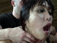 Cute Asian likes being dominated and roughly fucked in top bondage scene