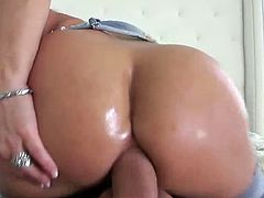 Gorgeous Holly Halston does POV blowjob, anal & ass to mouth