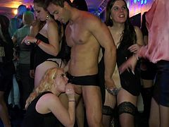 Hotties are really amazing during this hot group sex party