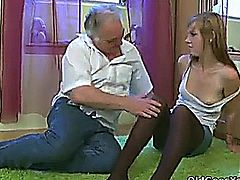 Alexis Crystal - Blondie Teen with a pervert Oldman