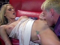 Make sure you have a look at this hardcore scene where the sexy blonde Katie Morgan is fucked silly by a guy until her abdominal are is covered by cum.