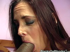 This MILF's husband doesn't give her what she needs so she cheats on him with a black guy and gets her brains banged out.
