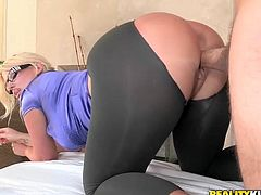 Milf with a huge ass is going to enjoy herself on a fat cock