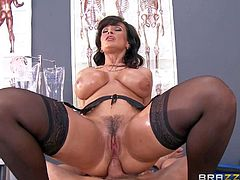 Experienced sexy woman Lisa Ann with wet massive melons and thick ass is the best in sex therapy. Her big mature ass is totally fuckable and patients love it so much. Watch her get her big butt banged again.