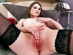 Alice March with tiny tities and bald bush cant live a day without toying her love box