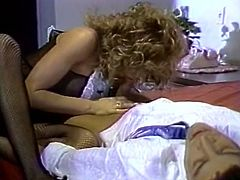 Hot like fire dark haired slut and blond bitchy babe lick their sweet kitties. Brutal dawg helps them a little by poking his giant cream stick into their mouths and saggy twats. Take a look at this dirty 3 some fuck in The Classic Porn sex clip!