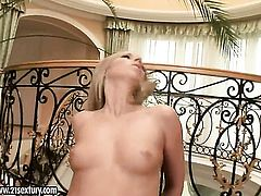 Blonde Debbie White has some time to get some pleasure