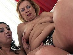 Lady and Alexia are to horny mature ladies ready to make you bust a nut with this hot lesbian scene where they masturbate each other with sex toys.