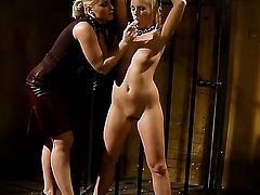 Blonde honey Barbie White and Kathia Nobili show their love for lesbian sex
