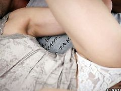 Brunette Tina Blade enjoys guys man meat in her mouth in crazy oral action