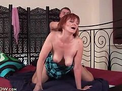 Watch face of mature redhead in doggystyle porn