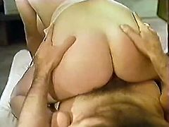 Watch this slutty blonde babe in her sexy and tight underwear pleasing her boyfriend in her bedroom in The Classic Porn sex clips.