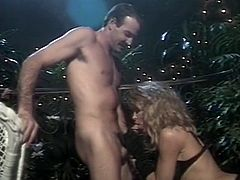 Watch this perverted old guy fucking her really hard outside his house while she gets her titties squeezed in The Classic Porn sex clips.