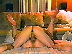 Horny girlfriend shows her passion and love for sex in homemade video. She gives a blowjob lying on the floor. Then gets banged in a doggystyle and a missionary positions.