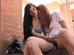 These two kinky and horny babes are teens with so fucking immoral live! They get naked outdoors and start touching each other's muffs.