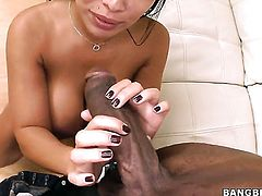 Chicana Sienna West has some sex fantasies to be fulfilled in tugjob action