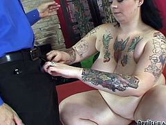 Raven head salacious bim with fat ass and tremendous ballrooms boob hammers honeyed bonker of her kinky dirty minded stud. Watch this fat slut loping in Fame Digital porn clip!