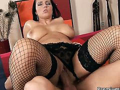 Laura Lion with massive knockers has some dirty sex fantasies to be fulfilled