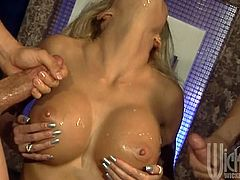 Man, just look at this juicy and gorgeous siren Tabitha Stevens! She is so busty, even though she got fake tits, dudes bang her, drooling and sighing.