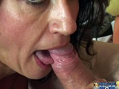 Curly haired dark head salacious wench from hot country knows how to please her hubby. She uses her OMG monstrous ballrooms to seduce him and after that bounces up and down on his sweet long schlong. Take a look at this old tramp in My XXX Pass porn clip!