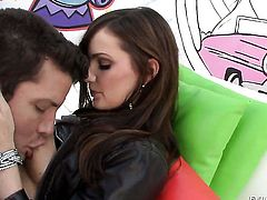 Lily Carter has fire in her eyes as she takes pop shot on her eager face