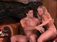 Glamorous Nicole Aniston sucks and fucks hardcore