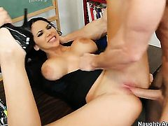 Fascinating sex kitten Missy Martinez gets a fuck with hard cocked guy Johnny Sins