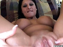 Alison Star loves the way her fuck buddy moves his cock up and down between her hands