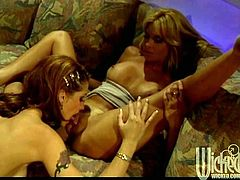 Alexa Rae and Tara enjoy licking and toying each other's hot pussies