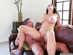 Mick Blue stretches good looking Mackenzee Pierces pussy with his rock solid dick to the limit