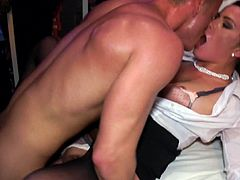 Amazing babes are having a naughty time during impressive hardcore sex party