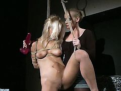 Blonde Kathia Nobili takes lesbian sex to the whole new level as she does it with Nikky Thorne