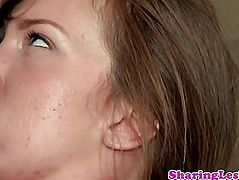 Malena Morgan have a fun tasting love button of gf
