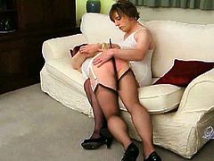 Come and see how the vicious and nasty blonde Tgirl Luci May gets spanked by her mistress til she reaches an orgasm. This party is completely out of control!
