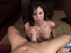 Amber Rayne needs nothing but a hard meat pole in her hands to get orgasm