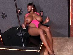 Hot Ebony With Big Tits Katt Dylan Gets A Big Facial
