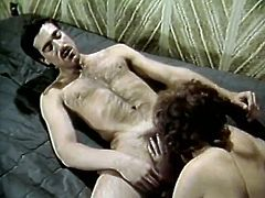 Leg spread black mustached dude lies in bed and sandy haired hot like hell hootchie provides him with delicious blowjob. He is crazy about that. Take a look at this red head cock sucker in The Classic Porn sex clip!
