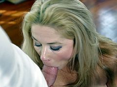 Patricia Price is a hot blonde milf with an amazing ass and massive natural tits. Take a look at this hardcore scene where this mommy's fucked silly by a large cock.