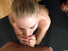 Cayenne Klein turns David Perry on to the point of no return before dick sucking